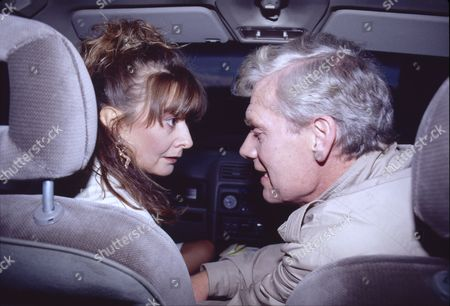 Sue Elliot (as Julie Dewhurst) and Geoff Hinsliff (as Don Brennan)