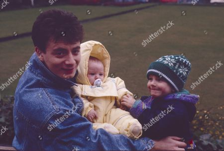 Stock Picture of Sean Wilson (as Martin Platt), Thomas Ormson (as David Platt) and Lynsay King (as Sarah Tilsley)