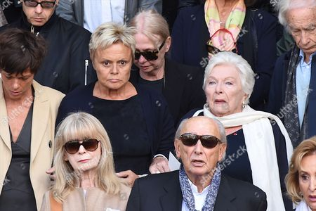 Editorial picture of Funeral of Mireille Darc, Paris, France - 01 Sep 2017