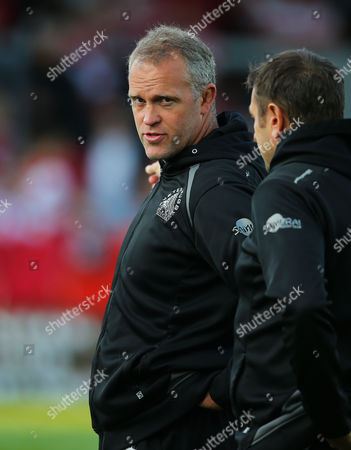 Exeter Chiefs Assistant Coach, Robin Hunter during the Aviva Premiership match between Gloucester Rugby and Exeter Chiefs at Kingsholm Stadium on September 1st, 2017 in Gloucester, England (Photo Phil Mingo/PPAUK)