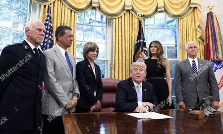 Editorial picture of US President meets with Hurricane Harvey relief organization officials, Washington, USA - 01 Sep 2017