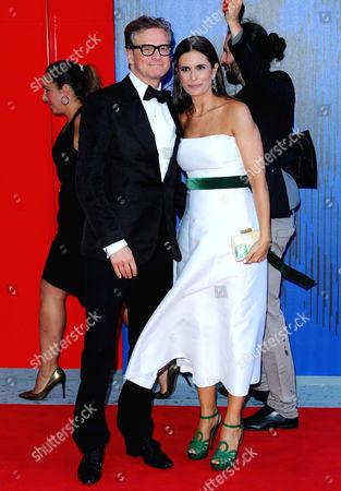 Stock Photo of Colin Firth, Livia Giuggioli
