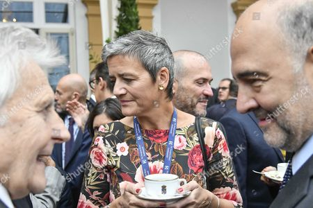 Jean-Claude Trichet, Margrethe Vestager and Pierre Moscovici