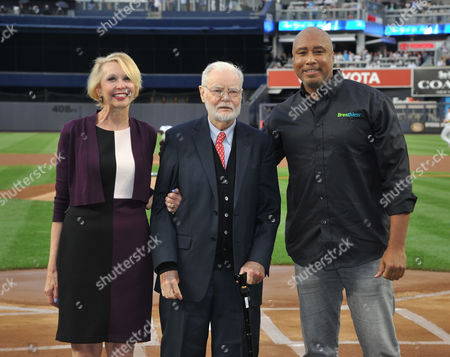 Editorial picture of Bernie Williams performing the national anthem at Yankee Stadium, New York, USA - 01 Sep 2017