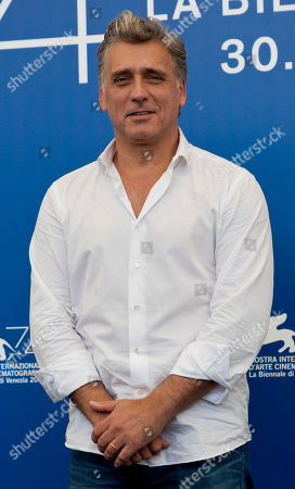 "Actor Lior Ashkenazi poses during the photo call for the film ""Foxtrot"" at the 74th Venice Film Festival in Venice, Italy"