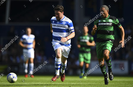 Stock Photo of Marcus Mumford of Team Ferdinand and Des Walker of Team Shearer