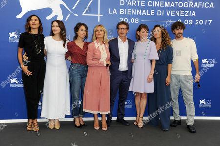 Francesco Patierno, Barbora Bobulova, Anita Caprioli, Isabella Ferrari, Carlotta Natoli, Anna Foglietta and Michele Riondino