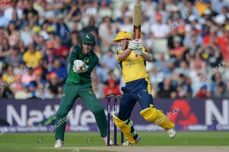 George Bailey of Hampshire batting during the NatWest T20 Finals Day 2017 semi final match between Hampshire County Cricket Club and Notts Outlaws at Edgbaston, Birmingham