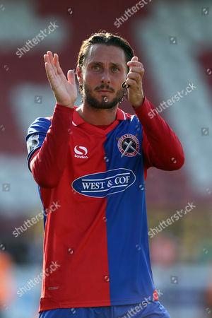 Nick Wheeler of Dagenham applauds the fans after Dagenham & Redbridge vs Gateshead, Vanarama National League Football at the Chigwell Construction Stadium on 2nd September 2017