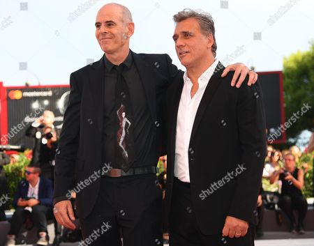 Israeli actor Lior Ashkenazi (R), Israeli movie director Samuel Maoz (L)  arrive for the premier of 'Foxtrot' at the 74th annual Venice International Film Festival, in Venice, Italy, 02 September 2017. The movie is presented in the official competition 'Venezia 74' at the festival running from 30 August to 09 September.