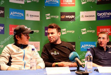 Final press conference - Mark Cavendish, Alex Dowsett, Geraint Thomas, Taylor Phinney, Caleb Ewan, Dan Martin and Mick Bennett