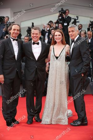 Alexandre Desalt. Matt Damon, Julianne Moore and George Clooney