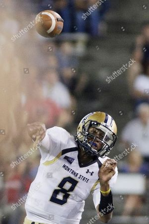 Montana State quarterback Chris Murray throws a pass during the first half of an NCAA college football game against Washington State in Pullman, Wash