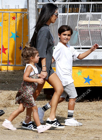 Stock Photo of Kourtney Kardashian, Penelope Disick, Mason Disick
