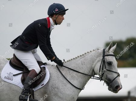 Harry Meade (GBR) riding Away Cruising during the Land Rover Burghley Horse Trials Show Jumping event
