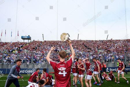 Cork vs Galway. Galway?s Darren Morrissey celebrates after the game
