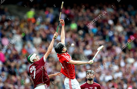 Cork vs Galway. Cork's Robert Downey and Mark Gill of Galway