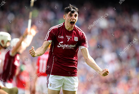 Cork vs Galway. Galway's Mark Gill celebrates at the final whistle