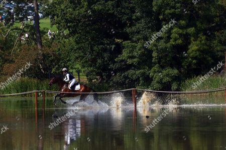 Caroline Powell on Spice Sensation at the Land Rover Burghley Horse Trials