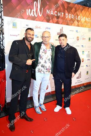 Tim Wiese, Reinhold Beckmann and Tim Maelzer