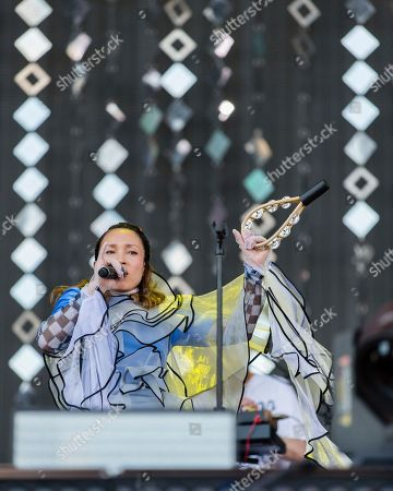 Yukimi Nagano of Little Dragon performs at The Budweiser Made In America Festival, in Philadelphia