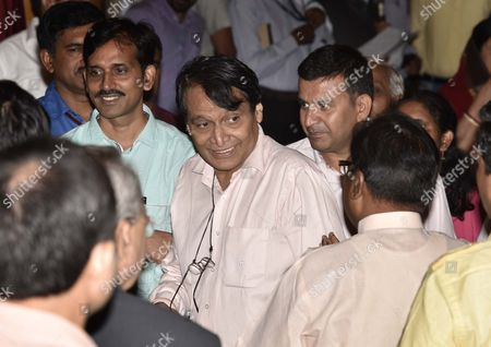Suresh Prabhu after the Cabinet reshuflle at Rashtrapati Bhavan