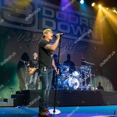 Stock Photo of 3 Doors Down - Chris Henderson, Brad Arnold and Greg Upchurch