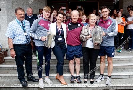 Editorial photo of GAA Hurling All Ireland Champions Galway Visit Our Lady's Children's Hospital Crumlin, Dublin  - 04 Sep 2017