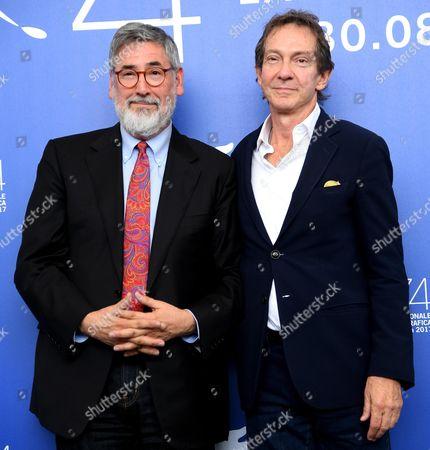 Stock Photo of John Landis and John Branca