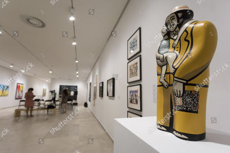 Stock Image of A view of an artwork (unknown name) on display during the inauguration of the exhibition 'Pop Art at the IVAM Collection' in Valladolid, Spain, 04 September 2017. The event featuring works by well-known artists like US Andy Warhol, British Richard Hamilton and US Jasper Johns will be open to the public until 05 November.