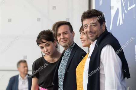 Patrick Bruel, Micaela Ramazzotti and Sebastiano Riso