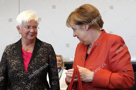 Angela Merkel and Gerda Hasselfeldt