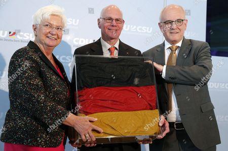 Norbert Lammert, Volker Kauder and Gerda Hasselfeldt