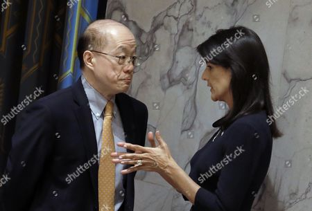 Nikki Haley and Liu Jieyi