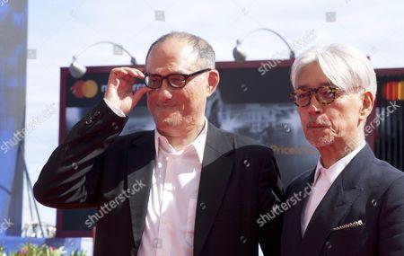 Stephen Nomura Schible and Ryuichi Sakamoto