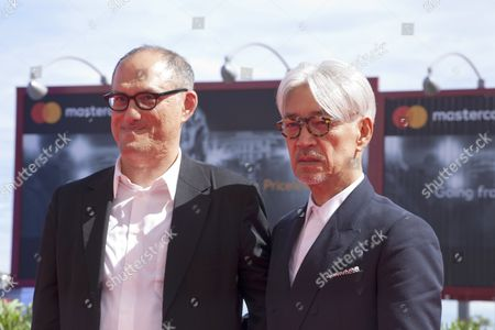 Stock Picture of Stephen Nomura Schible and Ryuichi Sakamoto