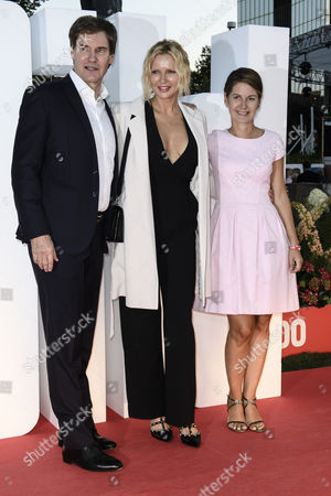 Veronica Ferres, Tanit Koch and Carsten Maschmeyer