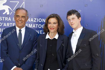 Festival director Alberto Barbera, Anne Fontaine and Finnegan Oldfield