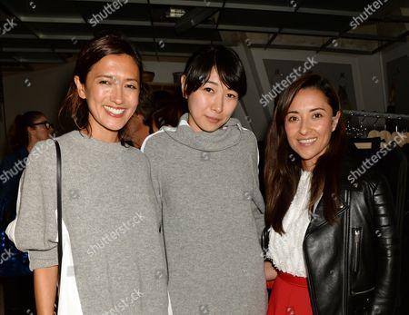 Hikari Yokoyama, Sarah Ueta and Paola Mantilla
