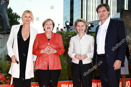 Veronica Ferres, Angela Merkel, Ursula of der Leyen and Carsten Maschmeyer
