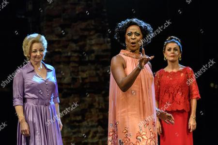 Norma Atallah (Emily Whitman), Dawn Hope (Stella Deems), Tracie Bennett) Carlotta Campion)