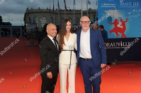 Producer Eric Esrailian, Canadian actress Charlotte Le Bon and Irish director Terry Georges