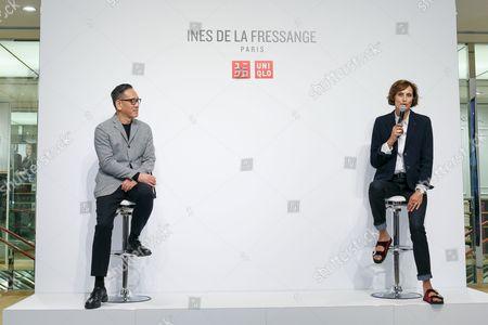 Editorial picture of Uniqlo x Ines de la Fressange collaboration launch, Ginza, Tokyo, Japan - 05 Sep 2017