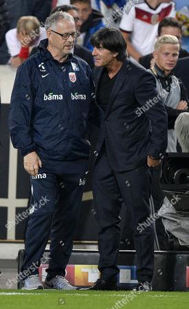Coach Joachim Jogi Loew (GER), Coach Lars Lagerbueck (NOR)