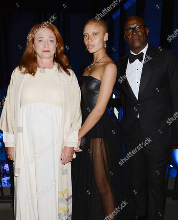 Camilla Lowther, Adwoa Aboah, and Charles Aboah