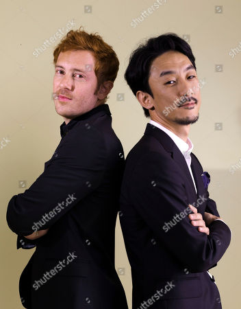 """Stock Photo of Igarashi Kohei, Damien Manivel. Directors Igarashi Kohei, right, and Damien Manivel pose for portraits for the film """"The Night I Swam"""" at the 74th Venice Film Festival in Venice, Italy"""