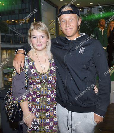Leo Borg with girlfriend Bianca