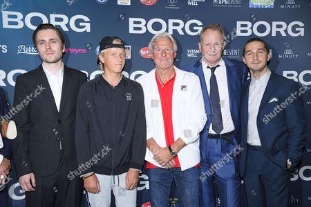 Sverrir Gudnason, Leo Borg, Bjorn Borg, Stellan Skarsgard, Shia LaBeouf