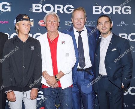 Leo Borg, Bjorn Borg, Stellan Skarsgard, Shia LaBeouf