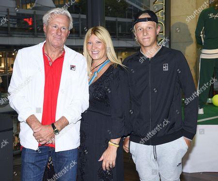 Bjorn Borg, Patricia Borg, Leo Borg
